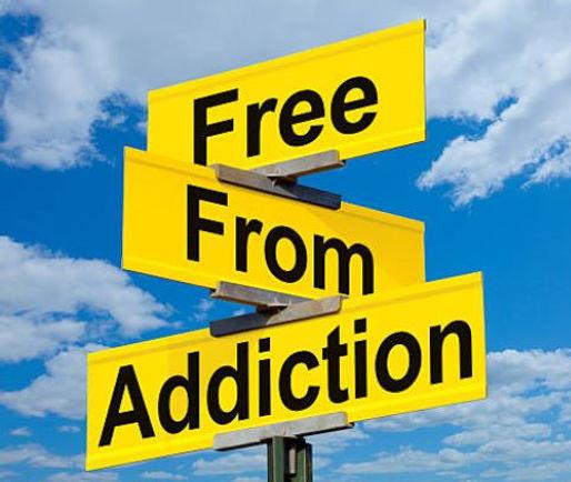 Free from addiction signage
