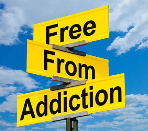 Free from addiction signage