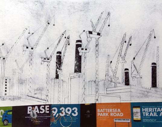 Battersea with Cranes