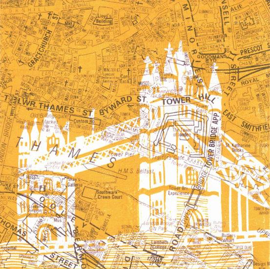 A-Z Tower Bridge (yellow)