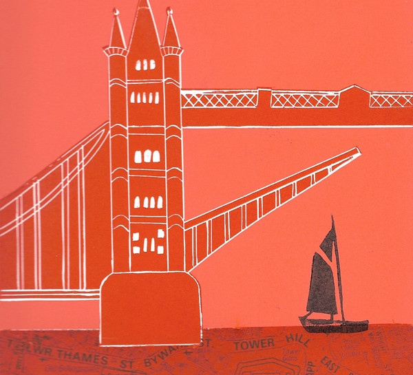 Boat under Tower Bridge
