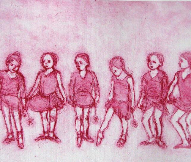 Mary Cossey Six Ballerinas.JPG