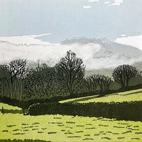 Ann Burnham - Misty Morning Trees