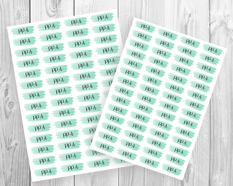 PPA Planner Stickers