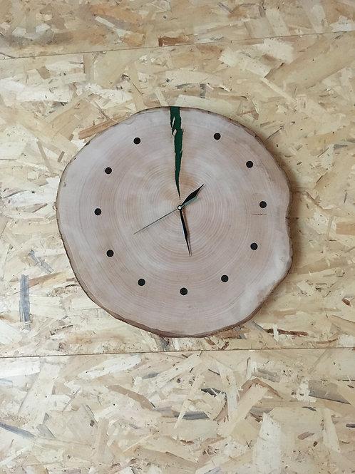 Orologio da parete in legno e resina
