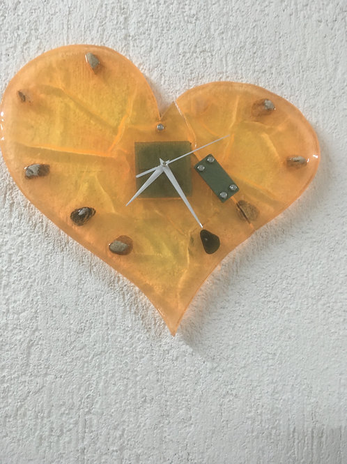 Orologio in resina e sasso