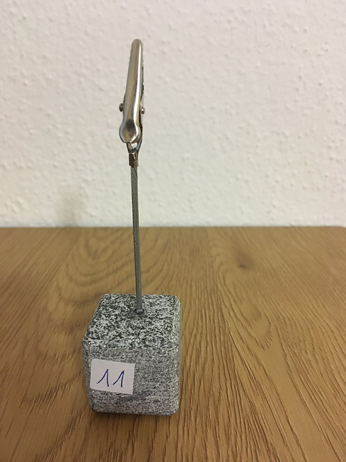Clip porta biglietti in pietra naturale