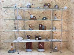 Orologi in legno e pietra naturale