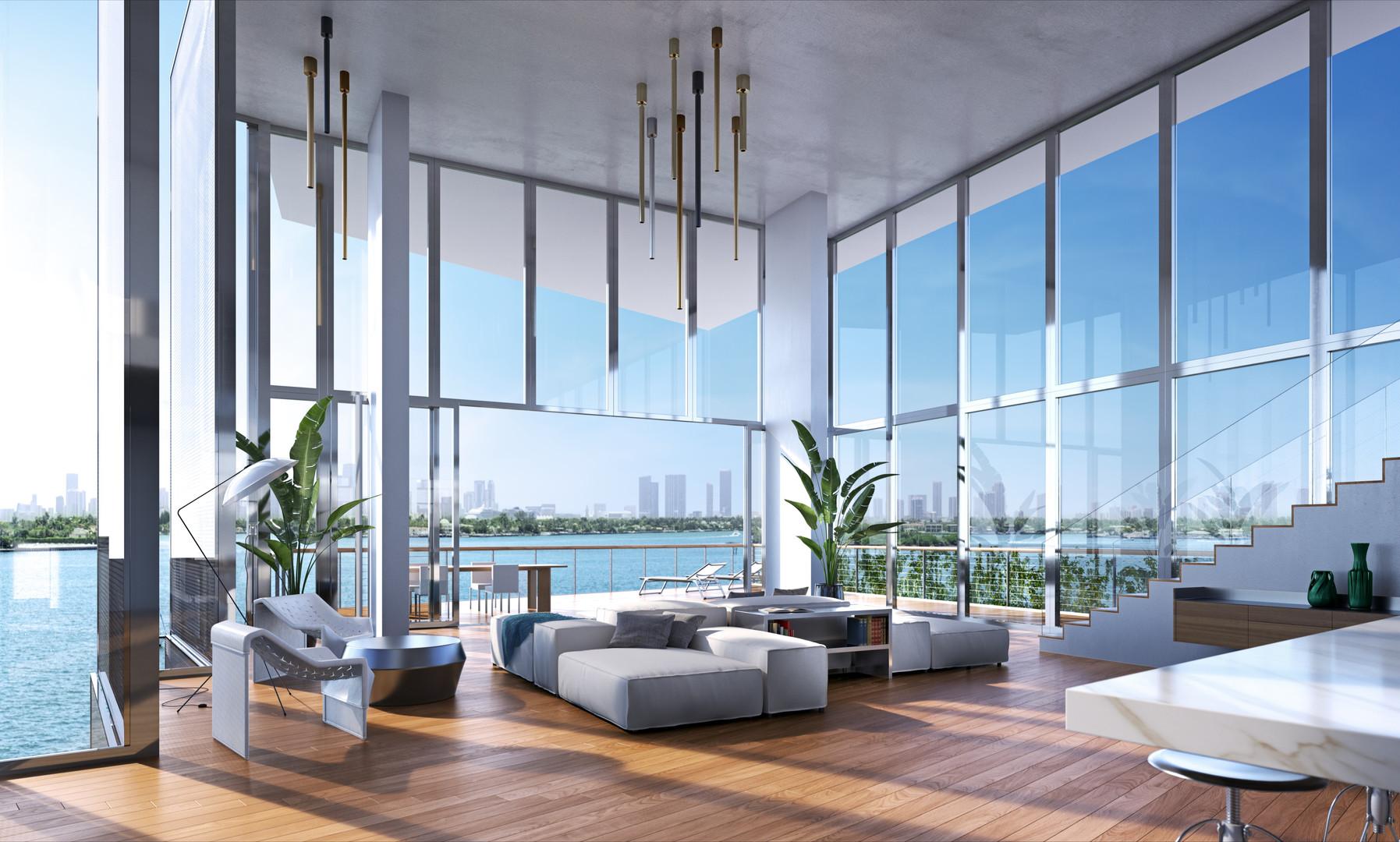 Monad Terrace - Penthouse Living Room -
