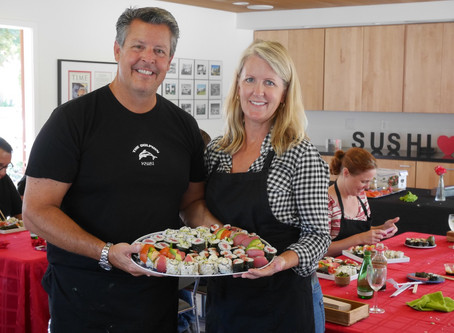 Recipes from the Sushi Class, Saturday August 20, 2016