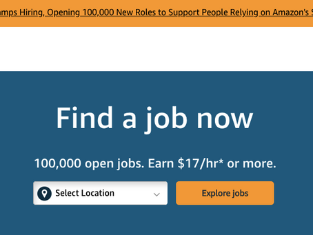 Amazon is hiring!