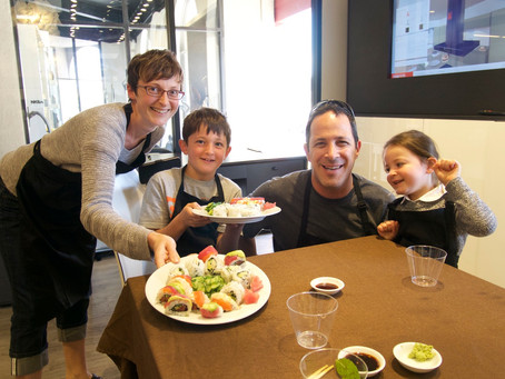 Photos from the Sushi Class, Saturday July 18, 2015