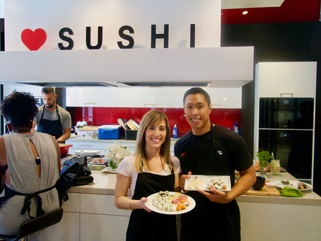 Photos from the Sushi Class, Saturday June 10.