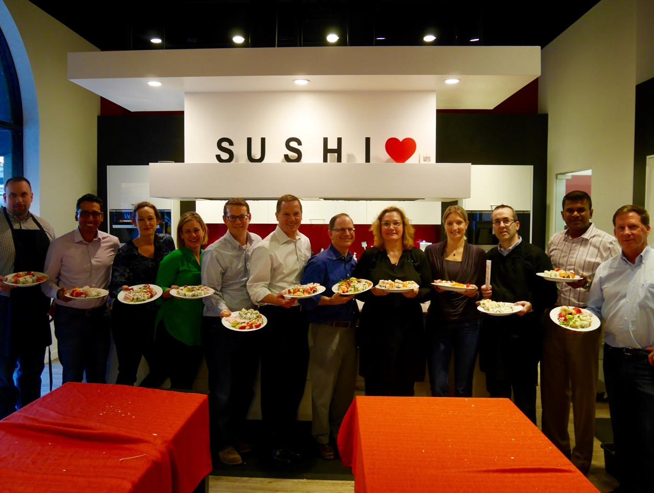 dnb team building sushi class May 25 2016 5