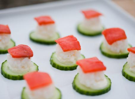 Smoked Salmon Mini Sushi Bite
