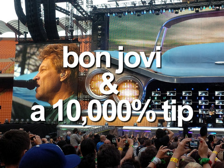 Bon Jovi and 10,000% tip