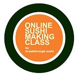 Online Sushi Making Class Logo