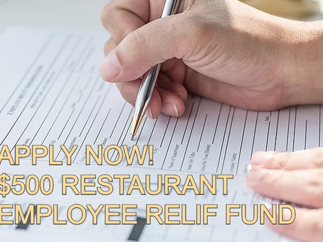 Application Opens on April 2 for $500 Restaurant Employee Relief Fund