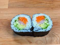 Salmon Kanpachi Cucumber and Avocado