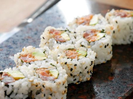 Homemade Recipe for Sushi: Classic Inside Out Spicy Tuna Roll, 8pc