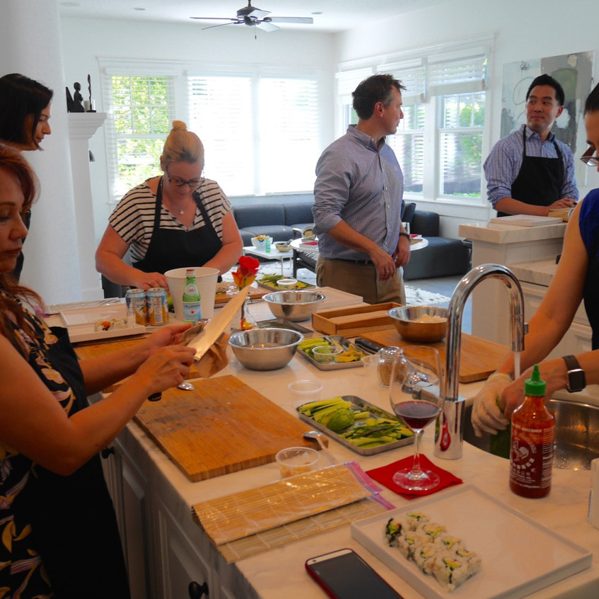 Roche Team Building Sushi Class June 30, 2016 2