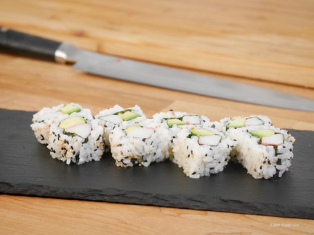 Homemade Recipe for Sushi: California Roll with Imitation Crab  (Inside Out Roll 8pc)