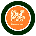 Online Sushi making class logo transpare