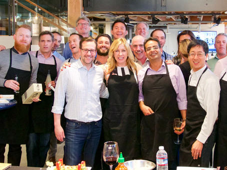 Photos from a recent Team Building Sushi Class