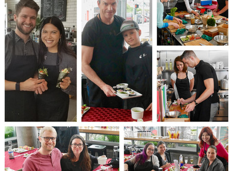 Photos from our Public Sushi Class