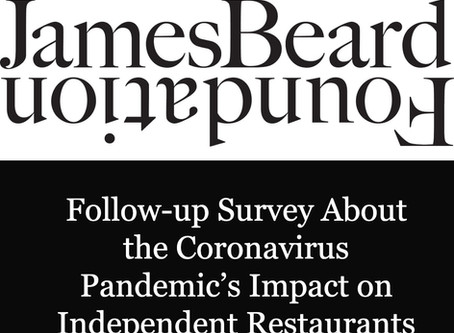 Jeames Beard Foundation Coronavirus Survey