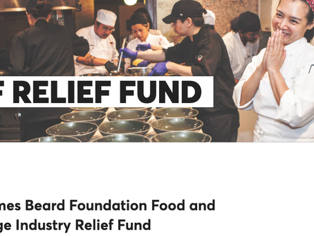 The James Beard Foundation is offering Food and Beverage Industry Relief Fund