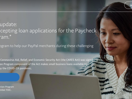 Paypal is providing Pay Check Protection Program (PPP)