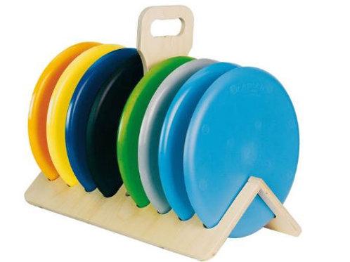 Plattenständer für 8 Platten aus Holz