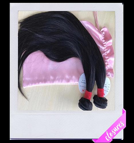 Mink Brazilian Straight Hair (Closure)