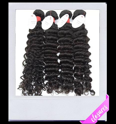 Mink Brazilian Curly Hair (Closure)