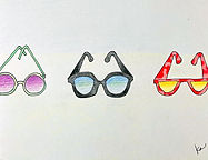 Sunglasses Drawing, How to Draw Sunglasses for Kids, Three Sunglasses in a Row, Draw Circle Sunglasses, Draw Easy Sunglasses, How to Draw Simple Sunglasses Kids, Elementary Art Lesson Wayne Thiebaud, Wayne Thiebaud Sunglasses Kids, Wayne Thiebaud Art Project Kids, Art Lesson Plan for Kids Wayne Thiebaud, Free Art Lesson Elementary, Free Art Project Instructions Elementary, Homeschool Art Free, Free Online Art Classes, Free Art Videos Kids