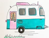 Airstream Drawing and Painting Lesson for Kids, Free Online Art Lessons for Kids, Airstream Watercolor Project for Kids Free, Camper Drawing and Painting Project for Kids, Elementary Art Camper Lesson, Homeschool Art Free , How to Draw an Airstram, How to Draw a Camper Kids, Simple Trailer Drawing for Kids, Camping Art Lesson Kids