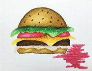 Hamburger, Oil Pastels, Cheeseburger, Burger Drawing for Kids, Elemetary Burger, Oil Pastels for Kids, Drawing and Shading for Kids, Art Lesson for Kids, Art Project for Kids, Homeschool Art, Online Art Classes for Kids, Art Videos for Kids