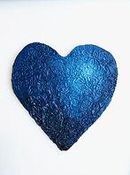 Blue Heart, Textured Heart Art Project, Painted Heart Project, Color Value Project, Elementary Art Project, Art Project for Students, Art Project for Homeschool