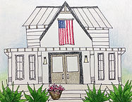 House and American Flag Drawing, Colored Pencil for Students, Elementary House Drawing, House Drawing Elementary Students, House Drawing for Kids, American Flag Drawing for Kids, Memorial Day Art for Kids, July 4th Art for Kids, Art Lessons for Students, Art Projects for Students, Homeschool Art