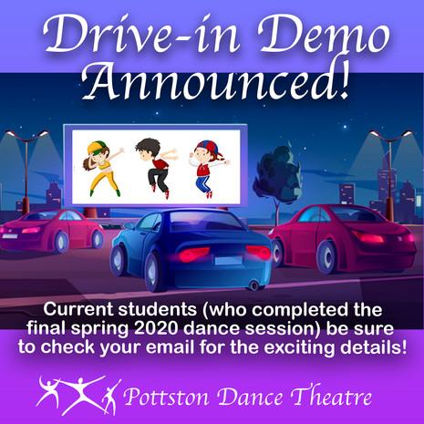 Drive-In Demo Announced!