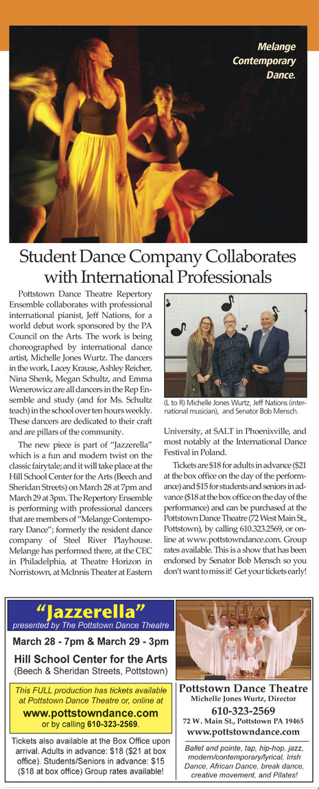"Pottstown Dance Theatre& Melange Contemporary Dance's production of ""Jazzerella""F"