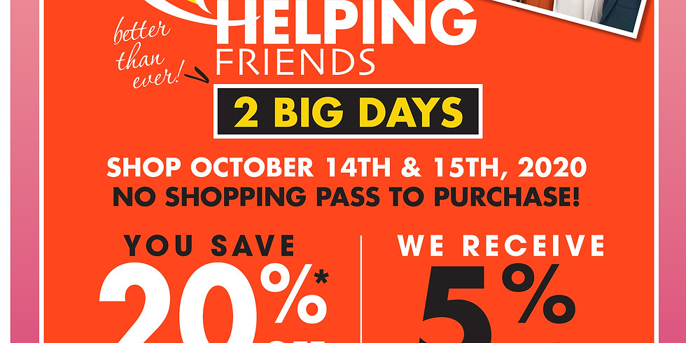 Shop October 14-15th and help support PDT!