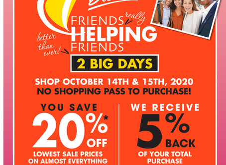 Shop, Save and Support PDT!
