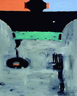 劉永仁〈城垣壓縮〉油彩畫布_227X182CM(150F)_1999.jpg