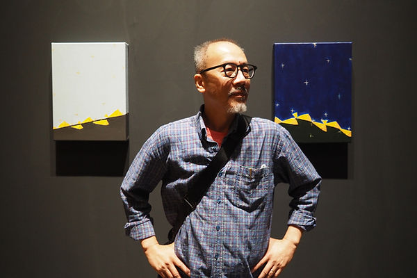 劉永仁與作品 時空的呼吸-星空I&II 2.jpg