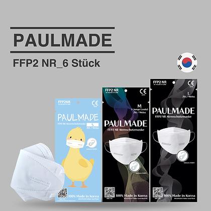[ PaulMade ] CE FFP2 - 6 Stück Made in Korea