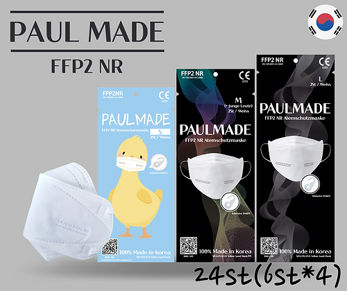 [ PaulMade ] CE FFP2 - 24 Stück Made in Korea