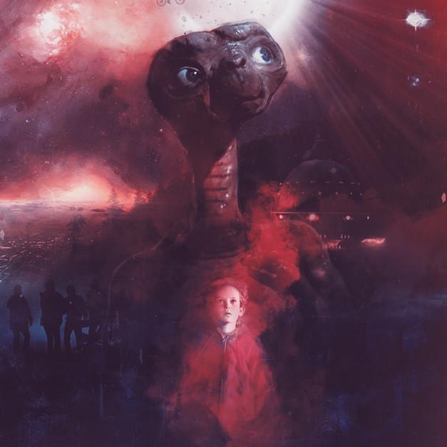 Title E.T. the Extra-Terrestrial  Campaign Tribute / Fan Art Fictional Concept  Release Date 1982  Studios Amblin / Universal