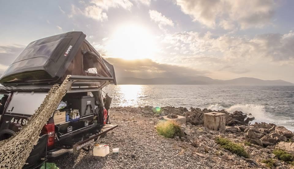 skycamp rooftop tent ocean beach